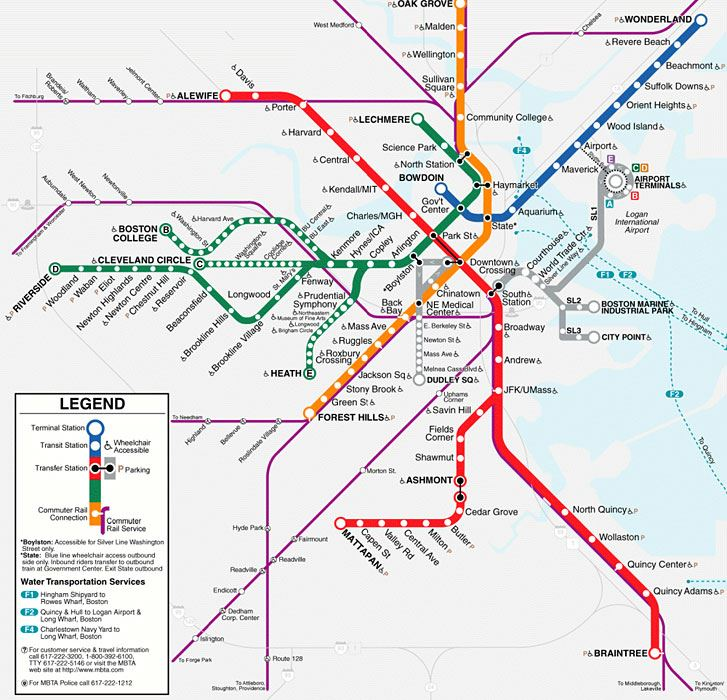Legal Crossing In Boston Subway Map.International Social Ontology Society Venue Transport Maps